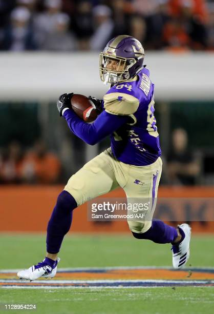 Bug Howard of Atlanta Legends runs for yardage during the Alliance of American Football game against the Orlando Apollos at Spectrum Stadium on...
