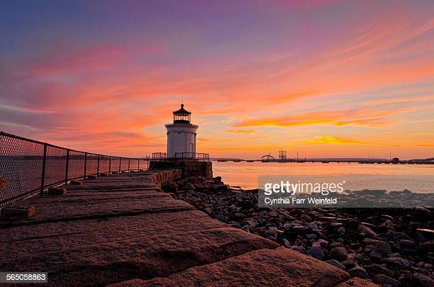 Bug light at sunrise