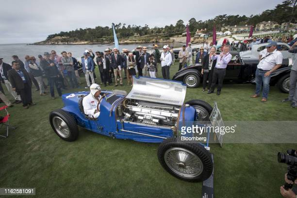 Bugatti Automobiles SAS Type 59/50s displayed during the 2019 Pebble Beach Concours d'Elegance in Pebble Beach, California, U.S., on Sunday, Aug. 18,...