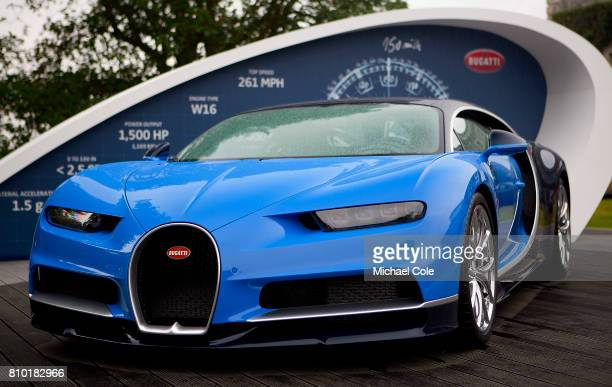 Bugatti Chiron in the Cartier Style et Luxe Concours area during the Goodwood Festival of Speed at Goodwood on June 29 2017 in Chichester England