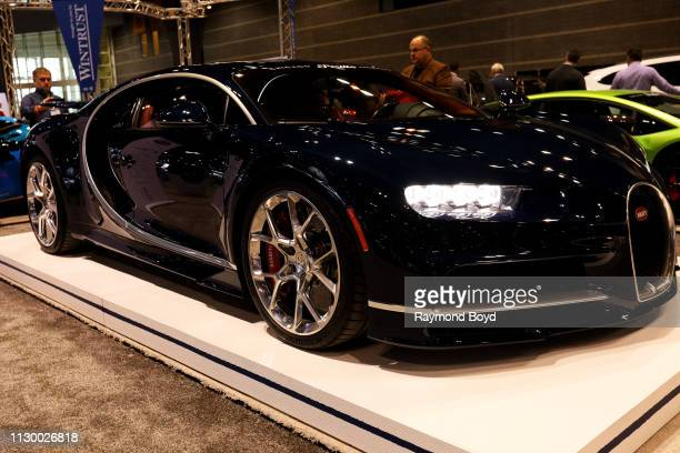 Bugatti Chiron is on display at the 111th Annual Chicago Auto Show at McCormick Place in Chicago Illinois on February 7 2019