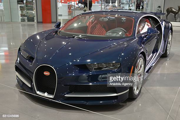 A 2017 Bugatti Chiron is shown at the Petersen Automotive Museum in Los Angeles CA on December 5 2017The car named after French race car driver Louis...