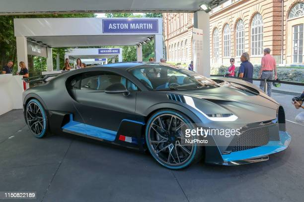 A Bugatti Divo exhibited in the Bugatti stand during the fifth edition of Parco Valentino car show on June 19 2019 in Turin Italy Parco Valentino...