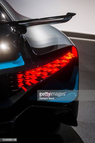 Bugatti Divo is displayed at the Paris Motor Show at Parc des Expositions Porte de Versailles on October 3 2018 in Paris France From October 4...
