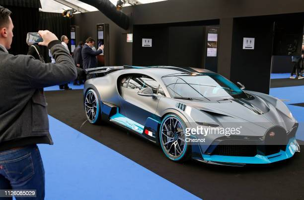 Bugatti Divo is on display during the 34nd International Festival Automobile at 'Hotel des Invalides' on January 30 2019 in Paris France This concept...