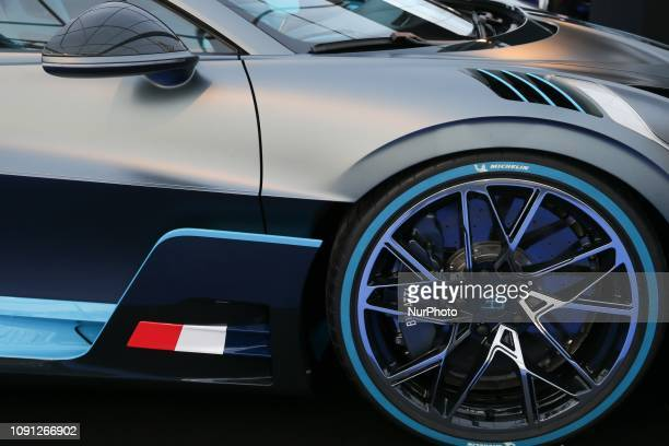 A Bugatti Divo supercar is displayed during the press day of the 2019 conceptcars exhibition and automobile design in Paris on January 30 2019 The...