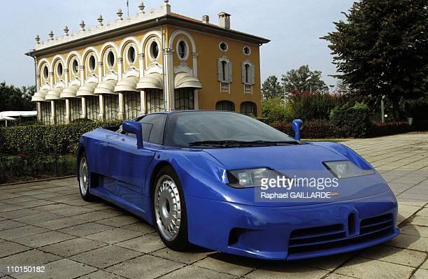 Bugatti EB110 at villa Meridiana in Italy on September 23 1992