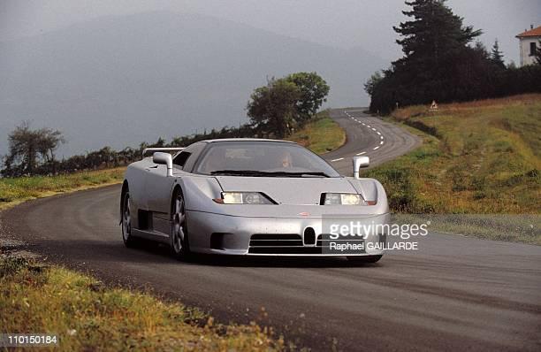 Bugatti EB110 Super Sport near Parma in Italy on September 23 1992