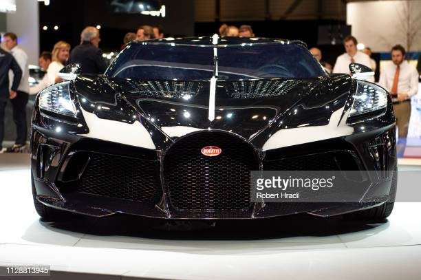 Bugatti La Voiture is displayed during the second press day at the 89th Geneva International Motor Show on March 5 2019 in Geneva Switzerland