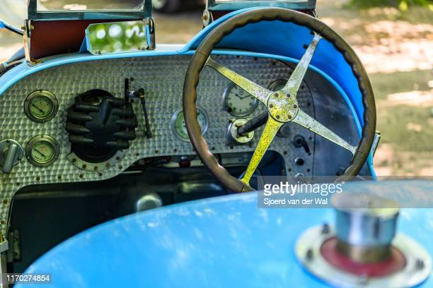 Bugatti Type 35 dashboard on display at the 2019 Concours d'Elegance at palace Soestdijk on August 25 2019 in Baarn Netherlands This is the first...