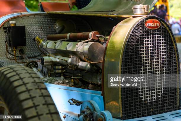 Bugatti Type 35 engine on display at the 2019 Concours d'Elegance at palace Soestdijk on August 25 2019 in Baarn Netherlands This is the first time...