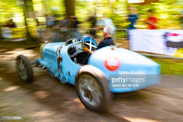 Bugatti Type 35 performing a demonstration sprint run at the 2019 Concours d'Elegance at palace Soestdijk on August 25 2019 in Baarn Netherlands This...