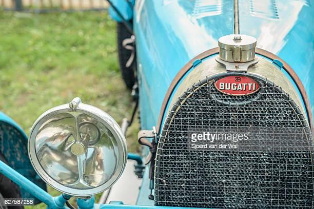 "bugatti type 35 vintage race car detail - ""sjoerd van der wal"" stock pictures, royalty-free photos & images"