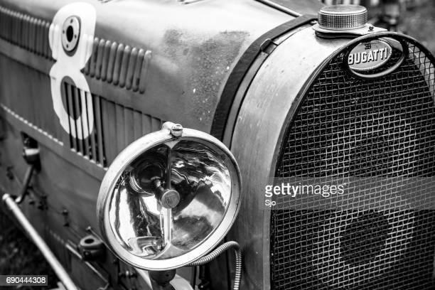 bugatti type 35 vintage race car - bugatti stock photos and pictures