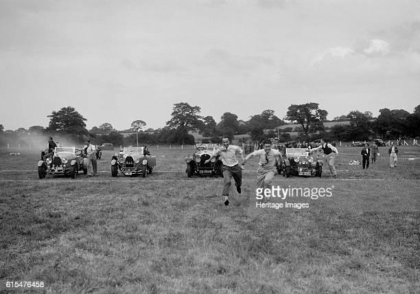 Bugatti Type 43 and 44 and a Bentley taking part in the Bugatti Owners Club gymkhana, 5 July 1931. Bugatti Type 44 2993 cc. Vehicle Reg. No. PL3265....