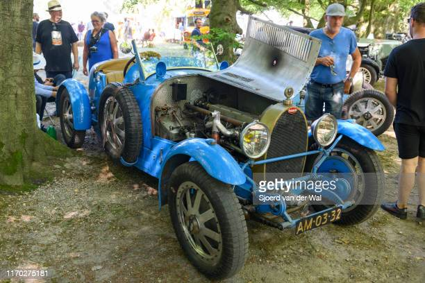 Bugatti Type 43 classic sports car of the 1920s on display at the 2019 Concours d'Elegance at palace Soestdijk on August 25 2019 in Baarn Netherlands...