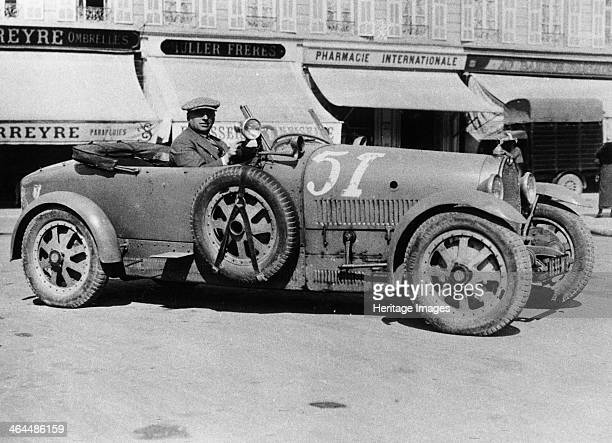 Bugatti Type 43 Nice France At the wheel is Ernest Friderich Bugatti agent in Nice The Type 43 was a road adaptation of the highly successful Type 35...