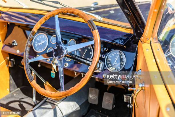 Bugatti Type 57 Berline body by Veth Zn1939 classic car interior on display at the 2019 Concours d'Elegance at palace Soestdijk on August 25 2019 in...