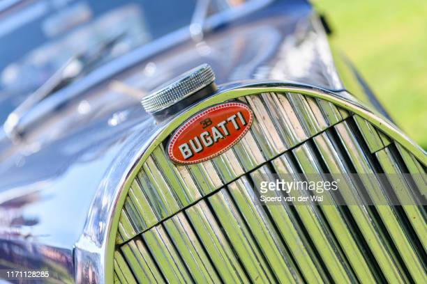 Bugatti Type 57 Berline body by Veth Zn1939 classic car on display at the 2019 Concours d'Elegance at palace Soestdijk on August 25 2019 in Baarn...