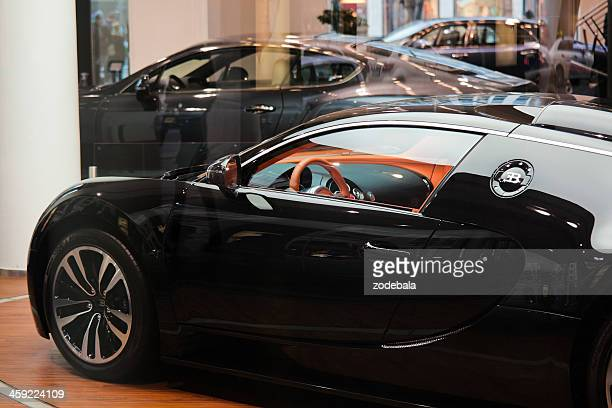 Bugatti Veyron and Luxurious Cars on a Showroom