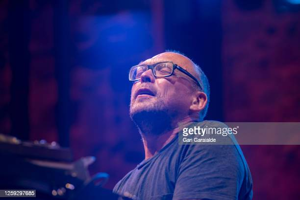 Bugge Wesseltoft performs on stage with Rymden during the 55th edition of the Heineken Jazzaldia Festival on July 26 2020 in San Sebastian Spain This...