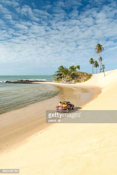 buggy bugre offroad in genipabu beach christmas - natal brazil stock pictures, royalty-free photos & images