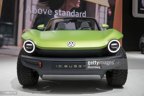 D Buggy electric concept automobile sits on display on Volkswagen AG exhibition stand on day two of the 89th Geneva International Motor Show in...
