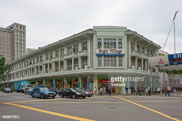bugis village in singapore - gwengoat stock pictures, royalty-free photos & images