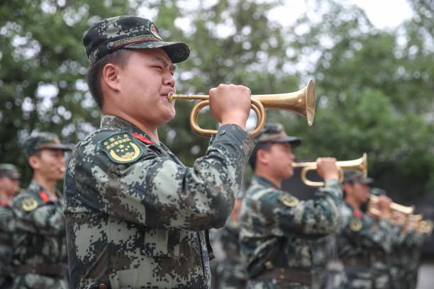 CHN: Guizhou Armed Police Buglers Attend Training Session