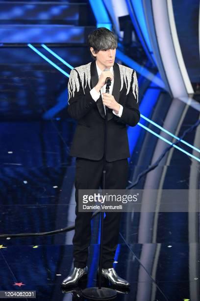 Bugo attends the 70° Festival di Sanremo at Teatro Ariston on February 04 2020 in Sanremo Italy