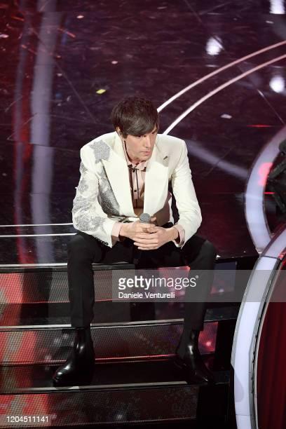 Bugo attends the 70° Festival di Sanremo at Teatro Ariston on February 06 2020 in Sanremo Italy