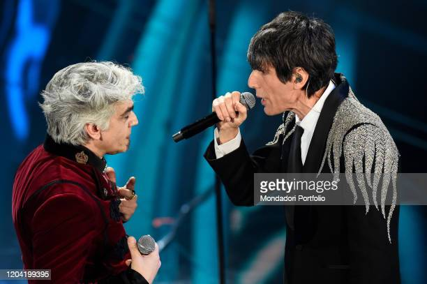 Bugo Morgan at the first evening of the 70th Sanremo Music Festival Sanremo February 4th 2020