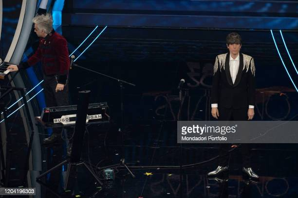 Bugo Morgan during the first evening of the 70 Sanremo Music Festival Sanremo February 4th 2020