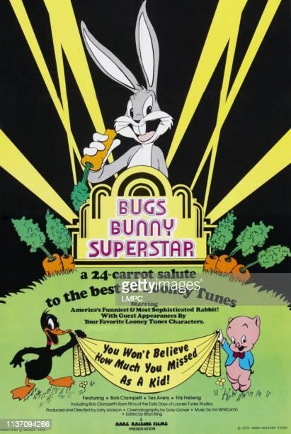 Bugs Bunny bottom lr Daffy Duck Porky Pig on poster art 1975