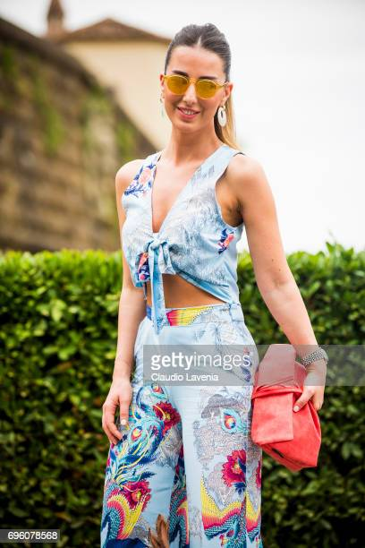 Bugse Kam is seen during Pitti Immagine Uomo 92 at Fortezza Da Basso on June 14 2017 in Florence Italy