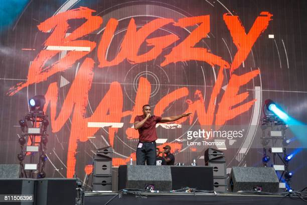 Bugzy Malone performs during Day 3 of the Wireless Festival at Finsbury Park on July 9 2017 in London England