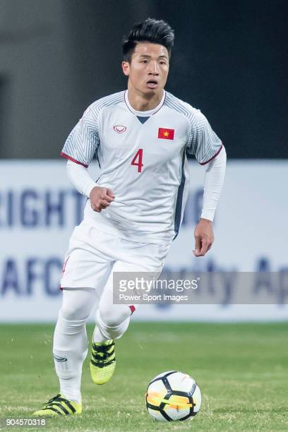 Bui Tien Dung II of Vietnam in action during the AFC U23 Championship China 2018 Group D match between South Korea and Vietnam at Kunshan Sports...