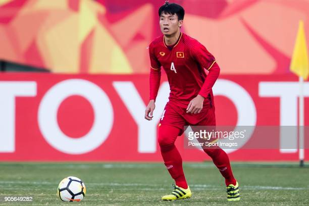 Bui Tien Dung II of Vietnam in action during the AFC U23 Championship China 2018 Group D match between Vietnam and Australia at Kunshan Sports Center...