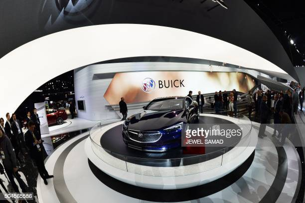 Buick Avista concept coupe is pictured after unveiling during the press preview of the 2016 North American International Auto Show in Detroit...