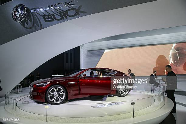 Buick Avista model car is on display during the 116th New York International Auto Show at the Javits Convention Center in Manhattan New York on March...