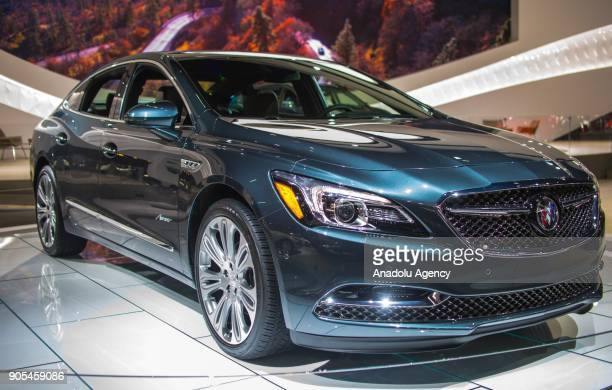 Buick vehicle is on display during North American International Auto Show at Cobo Center in Detroit MI United States on January 15 2018