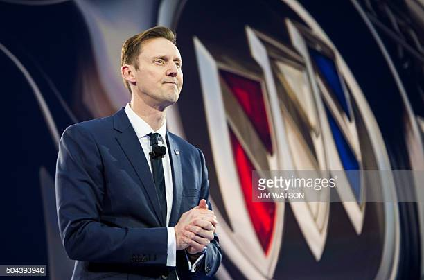 Buick Vice President of Global Sales Duncan Aldred speaks during the unveiling of the Buick Avista concept coupe ahead of the North American...