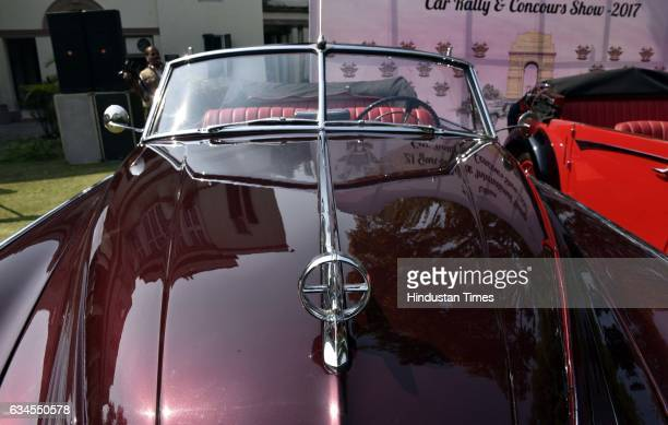 Buik Road Master of 1949 model with 4500 CC displayed during the media preview for upcoming 21 Gun Salute Vintage Car rally on February 10 2017 in...