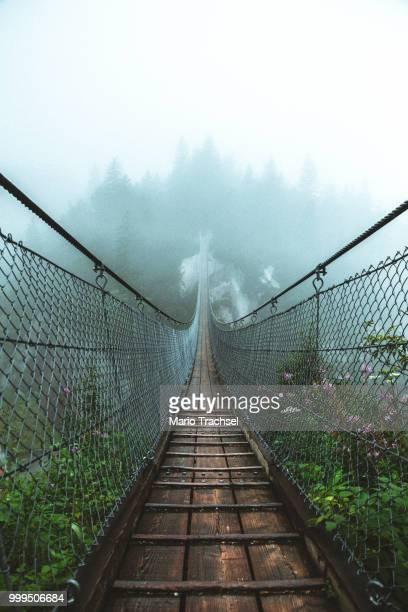 build bridges not walls - hängebrücke stock-fotos und bilder