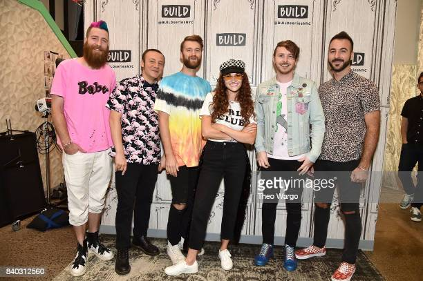 "Build Presents MisterWives Discussing Their Latest Album, ""Connect The Dots"" at Build Studio on August 28, 2017 in New York City."