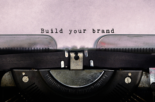 Build your brand typed on a vintage typewriter 840623022
