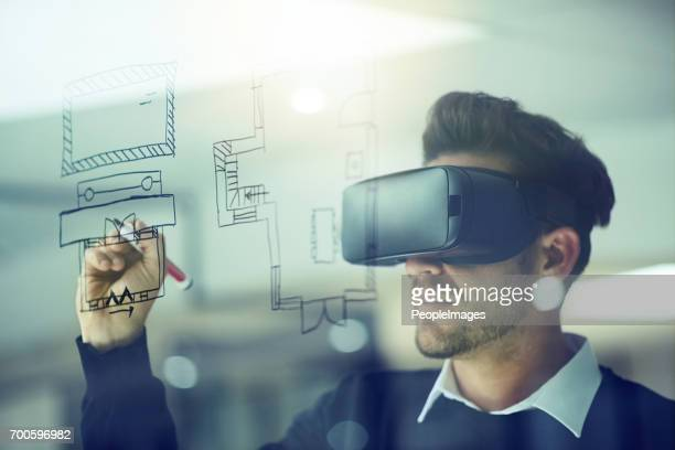 build your own reality - virtual reality simulator stock photos and pictures