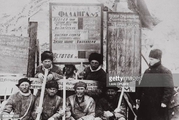 Builders of the White SeaBaltic Canal The canal was constructed between 1931 and 1933 by forced labor of Gulag inmates According to official records...