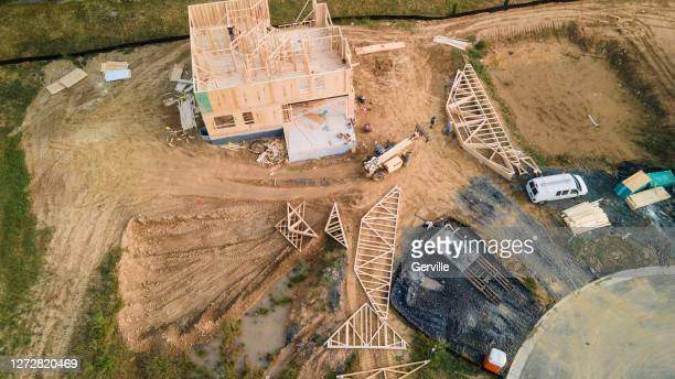 building a new home - gerville stock pictures, royalty-free photos & images