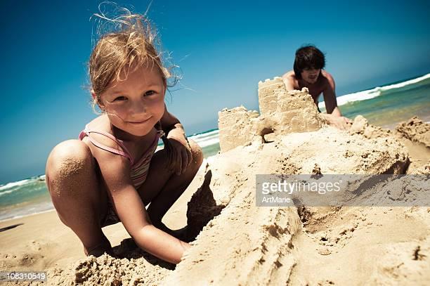 Gebäude ein sand castle